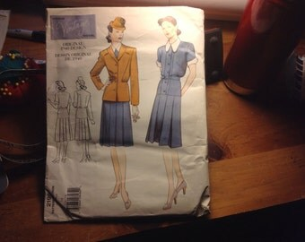 Vogue Vintage Original Model Reproduction Pattern from 1940 size 14 2196