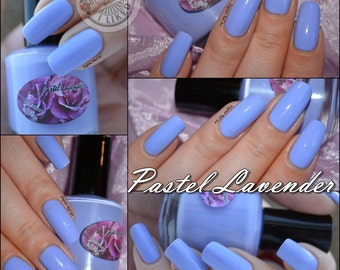 Pastel Lavender, 15 ML pastel nail polish, 5 free, vegan, indie