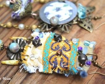 Lilly asymmetrical bohemian gypsy hippie earrings