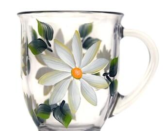 White Daisies Cafe Mug