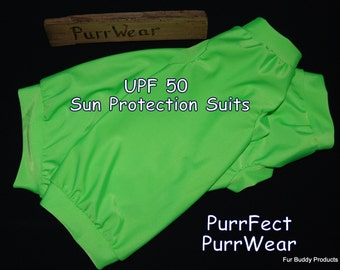 Ready2Ship Sphunx Cat Sun protecion shirt for  Devon Rex, Peterbalds and all cats.