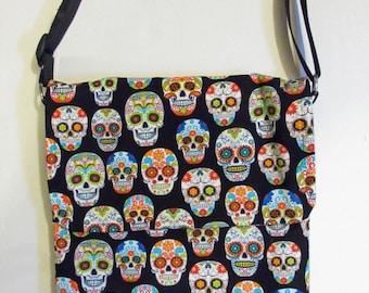 Sugar Skull Laptop Messenger Bag