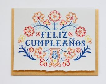 Feliz Cumpleanos - Hand Lettered Greeting Card