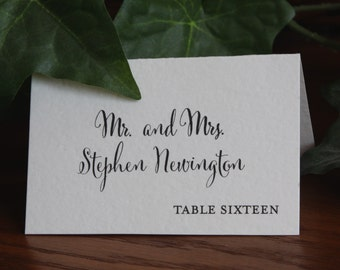 Wedding Place Cards, Escort Cards Weddings, Rustic Place Cards, Folded place cards, Printed Place Cards