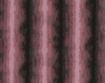 RJR Fabrics Mari 2308 02 Red Stripes On Black Yardage by Yuko Hasegawa