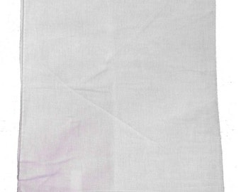 """White Solid Bandanas -  14"""" x 14"""" (12 Pack) 100% Cotton"""