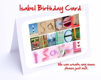 Isabel Personalised Birthday Card