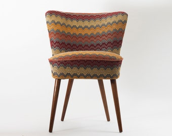 Zig-Zag chair - restored coctail chair with long legs