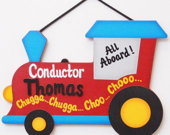 Personalized Choo Choo Train -Kids Room Decoration