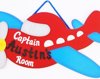 Personalized Airplane -Kids Room Decoration