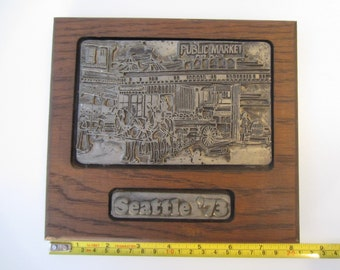 Vintage Safeco Insurance 50th Anniversary 1973 Seattle Pike Place Public Market Casting