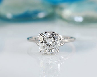 Jules Cushion Moissanite Filigree Custom Bezel Diamond Design Ring