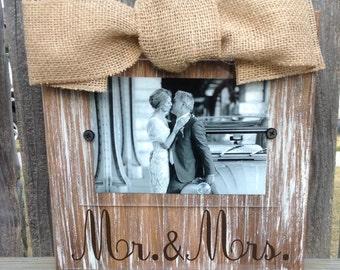 Mr. & Mrs. Whitewashed Frame