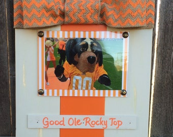 Tennessee Rocky Top Large Bow Table Top Frame with Burlap Ribbon