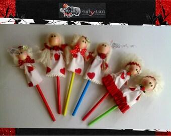 Pencil Angel doll Valentine