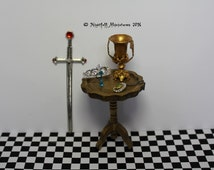 Dollhouse Miniature Magic Harry Potter Inspired Founder Relics in 1:12 scale