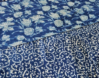 ON SALE - SECONDS Beautiful Indigo double-sided hand block printed doona/quilt/duvet cover sets