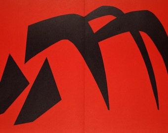 ALEXANDER CALDER - limited edition vintage lithograph - c1979 (Mourlot/Maeght/DLM, Paris)