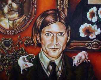 Everything is Fine - original Artwork by Mr. Christian - Crispin Glover Painting