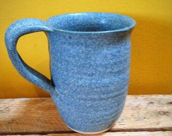 Denim pottery mug cup ceramic stoneware