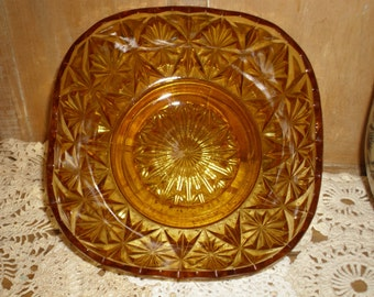 EXPIRES SOON 1/2 OFF!   Amber Diamond Colored Bowl
