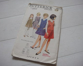 "Butterick Shift Dress Pattern 4072, Breast 24""- Circa 1970"