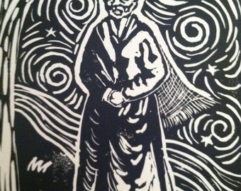 Harriet Tubman block print