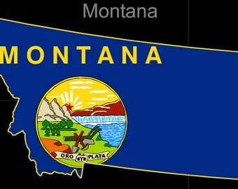 Montana American State Flag Pride Decal Sticker