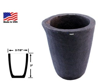Graphite Melting Clay Crucible # 0 (1 Kg Brass) Gold Silver, Jewelry Furnace Refinery Scrap Metal WA 365-430