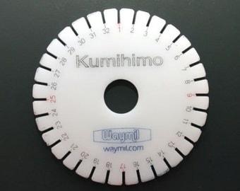 "Waymil Kumihimo Hard Acrylic Round Disk Plate 3-3/4"" Japanese Braiding Metal 200-011"