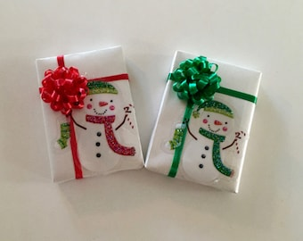 Snowman with Stocking Gift Package