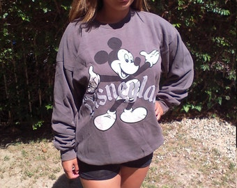 Mickey Mouse,comfy sweatshirt,gray, black, Free US shipping