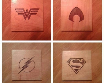 Superhero Coasters *Pick 4  mix and match* (Justice League, DC Universe)
