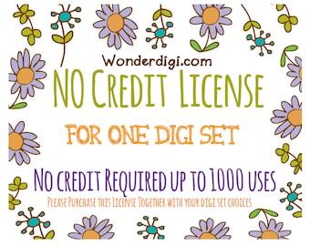 No Credit License up to 1000 uses - Wonderdigi