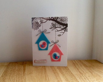 Birdhouse Card, New Baby Card, Baby Card, Baby Girl Card, Baby Boy Card, New Arrival Card, Baby Girl, Baby Boy, New Baby, Baby Shower Card,