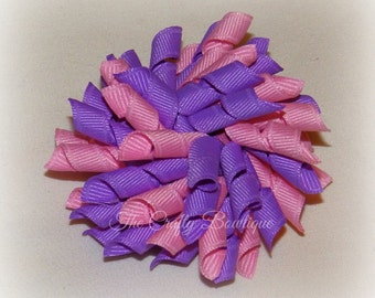 Pink & Purple Bow ~ Pink Korker Bow ~ Purple Korker Bow ~ Korker Pigtail Bows ~ Large Korker Bow ~Small Korker Bow ~ Purple and Pink Bow