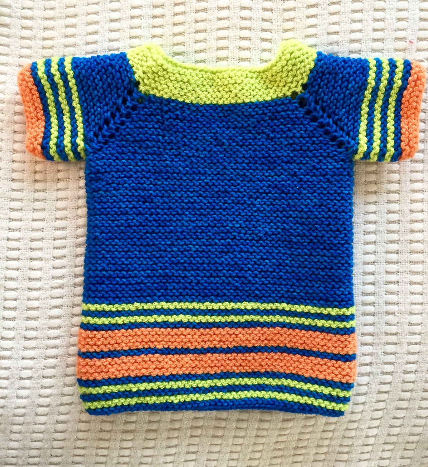 Knitting Baby Sweater Measurements : Knit spring baby sweater size months