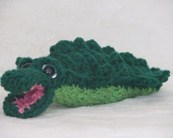 Ally the Crocheted Alligator - Stuffed Crocheted Toy