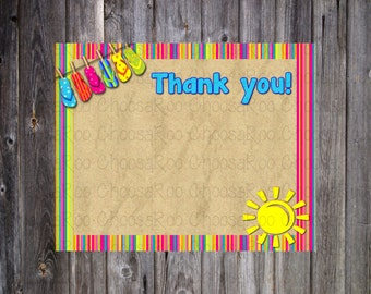 BEACH / Summer Thank You Card * PERSONALIZED