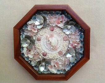 Sailors Valentine, Victorian Heart, Sailors Valentine Box, Shadow Box, Valentine, Sailor Valentine Shell Art, Sailor's Valentine Box