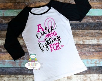A Cure worth fighting For Shirt, Breast Cancer Shirt, Awareness Shirt, Awareness Walk Shirt, Breast Cancer, Cancer Awareness
