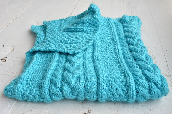 Children s Blanket Pattern Knitting : KNITTING PATTERN PDF Baby Blanket Knit pattern baby blanket