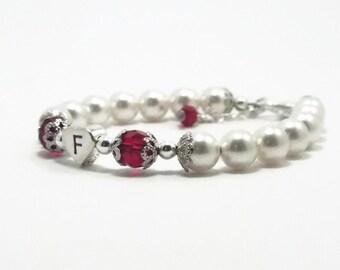 Baby Bracelet, Baby Jewelry, Baby Girl Jewelry, Baby Pearl Bracelet, Birthstone Bracelet, Flower Girl Bracelet, Baby Girl Gifts (B94)