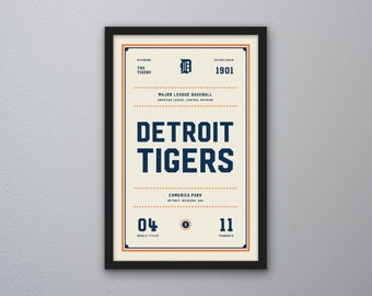"Detroit Tigers ""Day & Night"" Print"