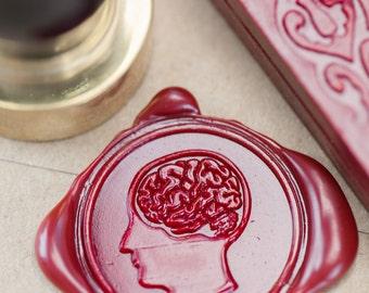 Brain Anatomy Wax Seal Kit | neuroscience, nurse, anatomical, wax stamp, sealing wax, alternative wedding invitation seal, girlfriend gift