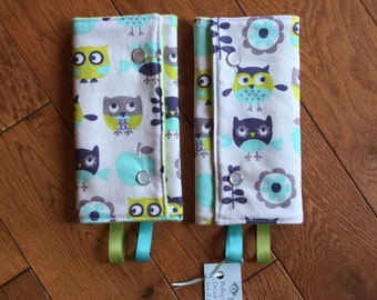 Baby Carrier Strap Drool Pad Cover with snaps