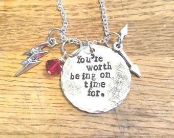 The Flash-WestAllen hand stamped necklace-Barry Allen and Iris West