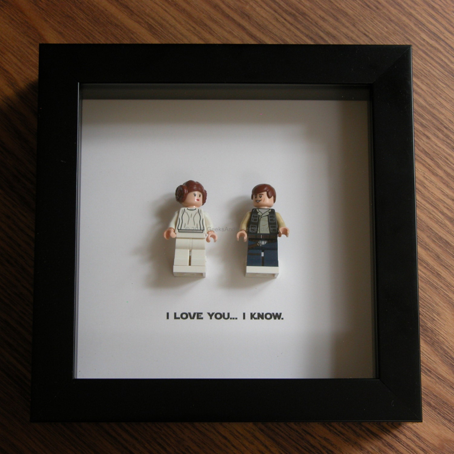 lego star wars framed art han solo princess leia lego minifigure display wedding gift wall decor picture frames displays