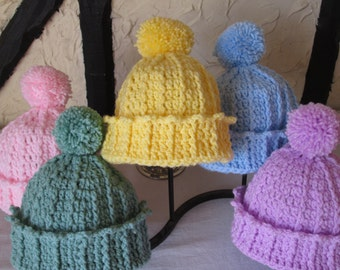 Toddler bobble hat, fits 18 months-5years