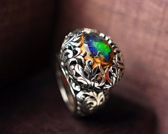 RESERVED!!! Ring with mexican opal